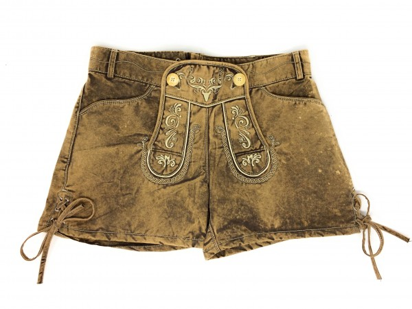 Damen Short in Trachtenoptik sand