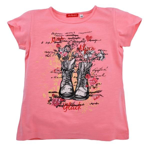 Mädchen T-Shirt pink Motiv Bergstiefel