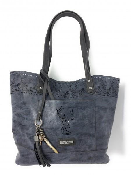 Shopper Trachtentasche mit Lochstickerei