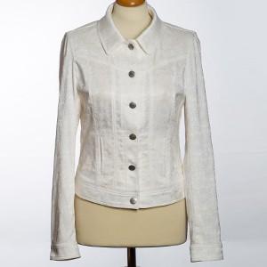 "Damen Jacke ""Nele"" mit Ornamente weiß"