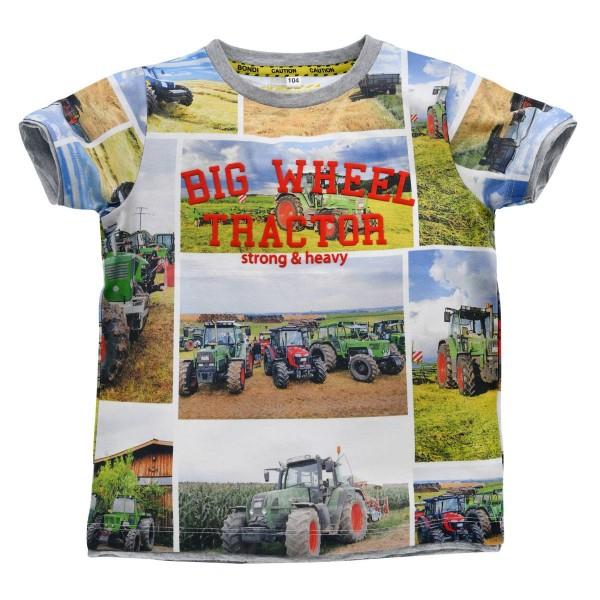 Jungen T-Shirt Big Wheel Tractor bunt