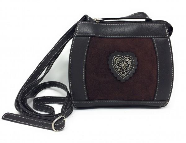 Handtasche Velour braun