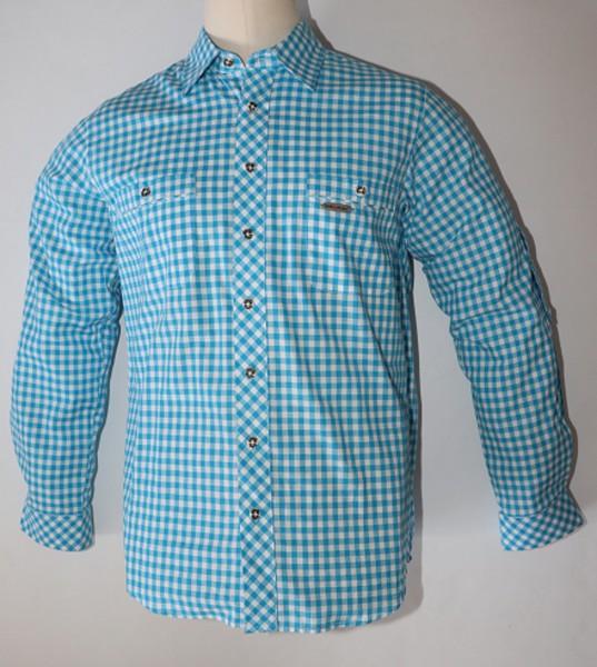 Herren Trachtenhemd türkis/karo