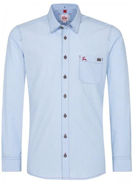 Herren Hemd Slim Fit Oxford blau