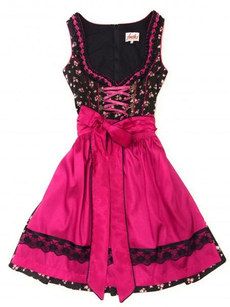 Da. Dirndl schwarz-pink
