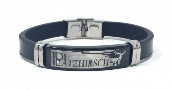 Herren Armband Platzhirsch schwarz/silber