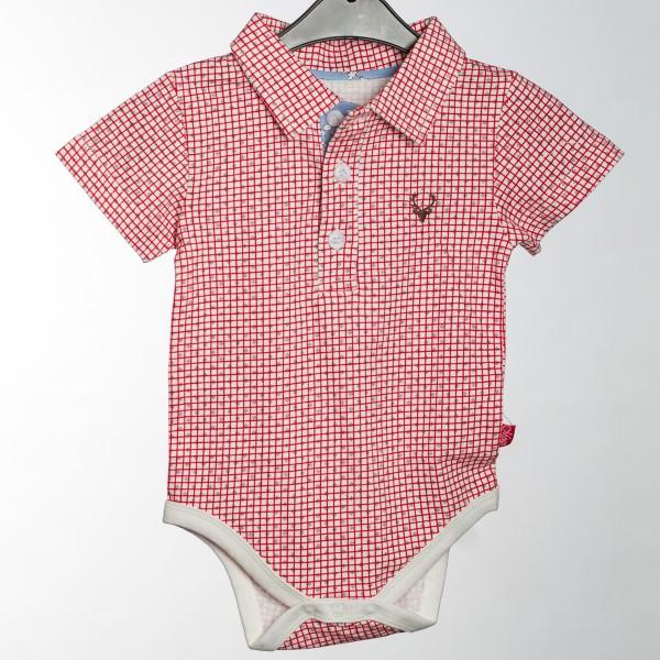 Baby Body Baretti kurzarm rot/weiß