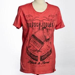 """Herren T-Shirt """"Rauschjodler"""" - rot"""