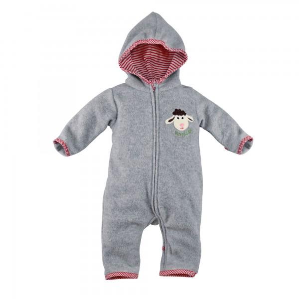 Baby Overall aus Fleece grau