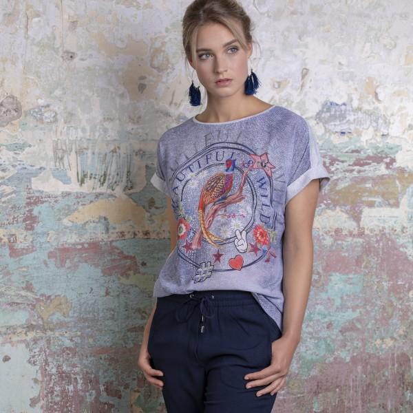Alpensünde T-Shirt Susa, beige blau