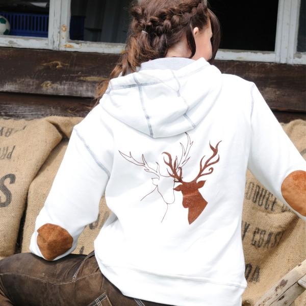 """Damen Sweatshirt """"Hirschpaar"""""""
