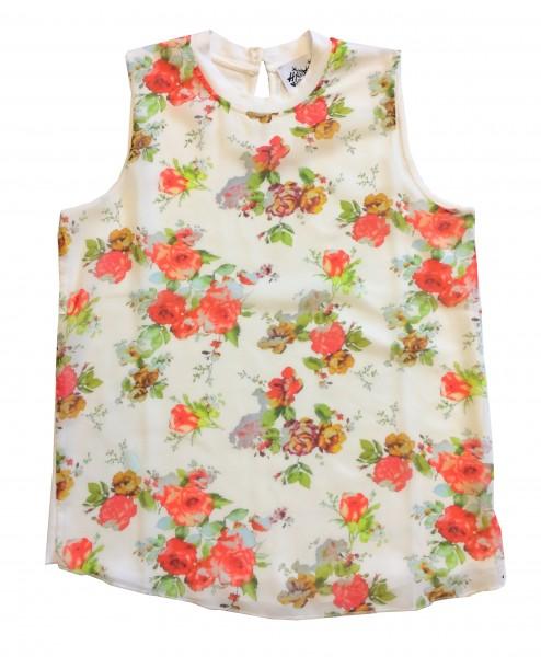 """Damen Top """"Onotta"""" mit Blumen-- beige"""