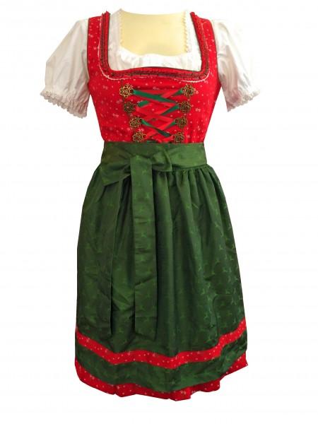 Damen Dirndl Lillysee 2 tlg. rot/grün