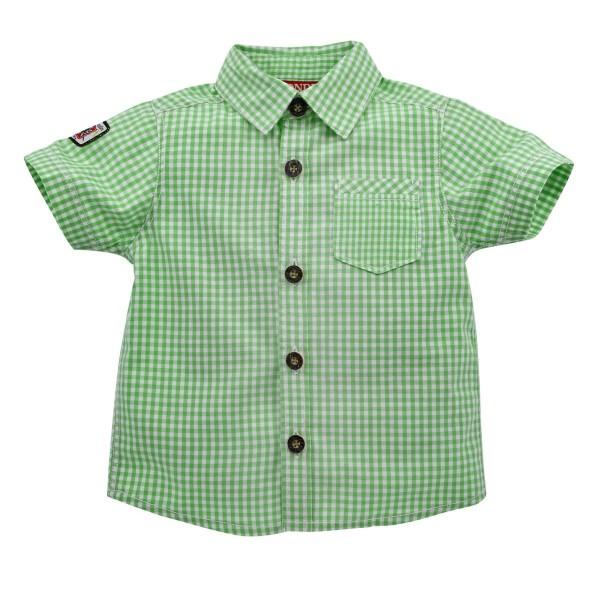 Baby Trachtenhemd grün/weiss kariert Gr 104