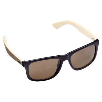 Sonnenbrille Bamboo schwarz/braun