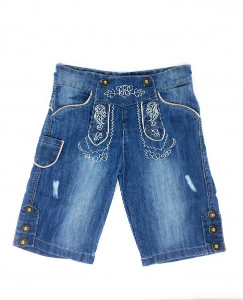 Trachten Jeans Bermuda- blue denim