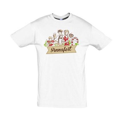 T-Shirt Familie Annafest in weiß
