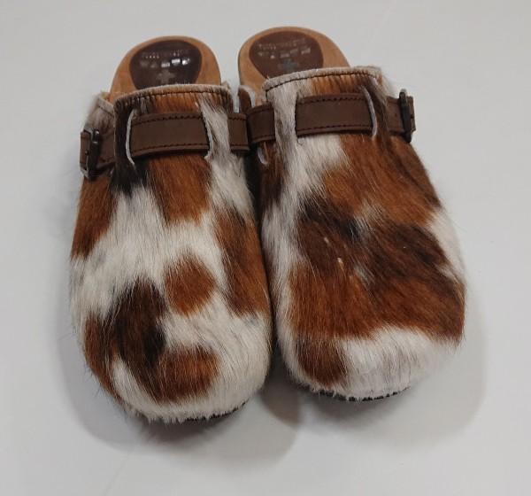 Herren Schuh Fell Clogs