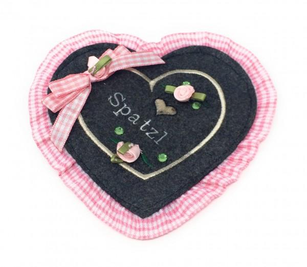 Herzgeldtasche rosa