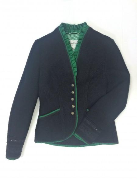 Damen Trachtenjacke mit Borte schwarz Gr. 36