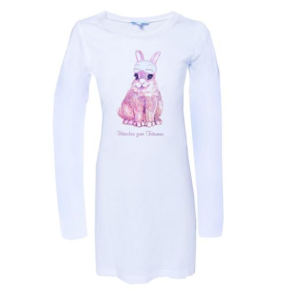Mädchen Nachthemd Hase