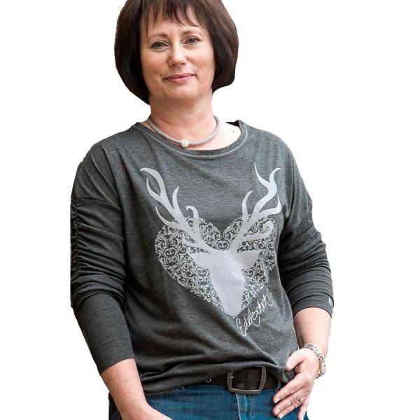 Damen Shirt Edelschick - grau
