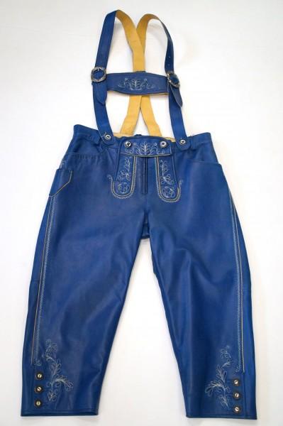 Damen Lederhose blau Gr 38