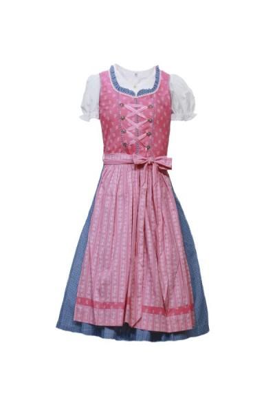 Kinderdirndl 3tlg rosa/blau Gr.164
