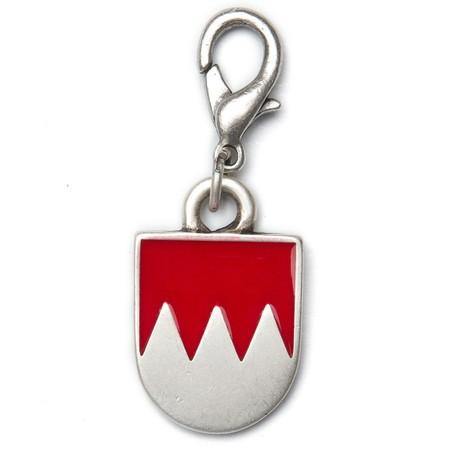 Schlüsselanhänger altsilber Franken Wappen