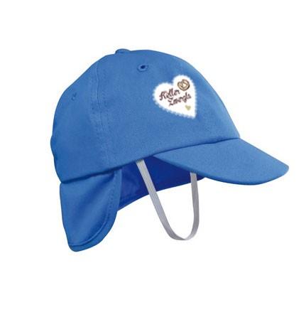 Babymütze Kellerzwergla blau