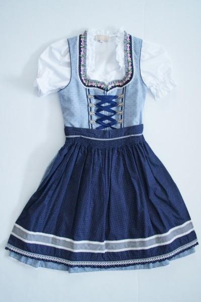 Kinderdirndl Luana 3tlg blau Gr. 146