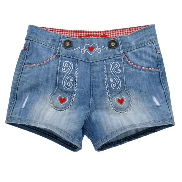 Mädchen Jeansshort blau