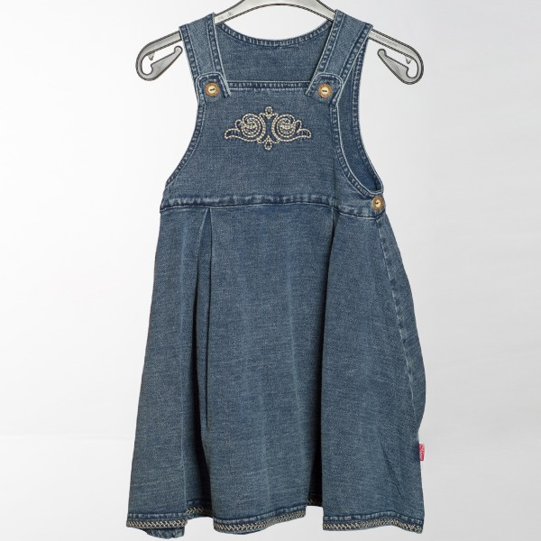Mädchen Jeanskleid Liskamm blau