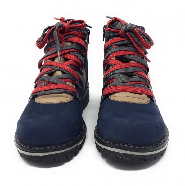 Damen Boots im Bergsteiger-Look blau/beige