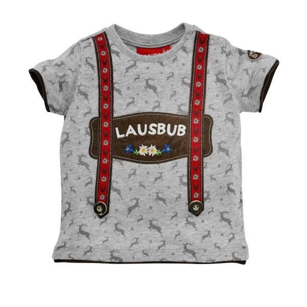 Baby T-Shirt Lausbub grau