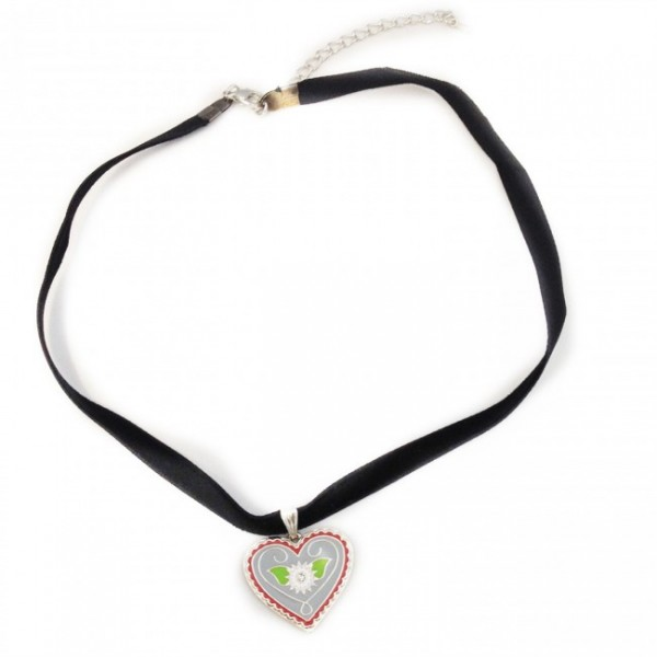 Trachtenschmuck Herz-Kropfband