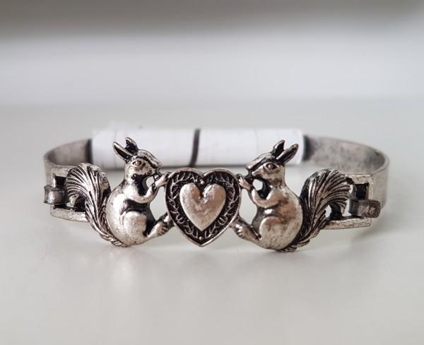 Armreif Eichhörnchen & Herz