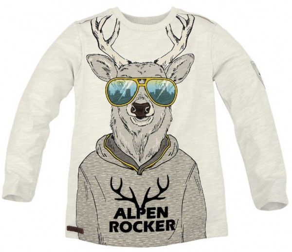 "Kinder Sweatshirt ""Alpen Rocker"" - grey melange"