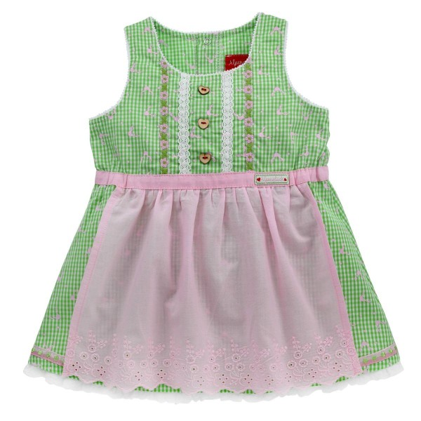 Baby Dirndlkleid grün/rosa