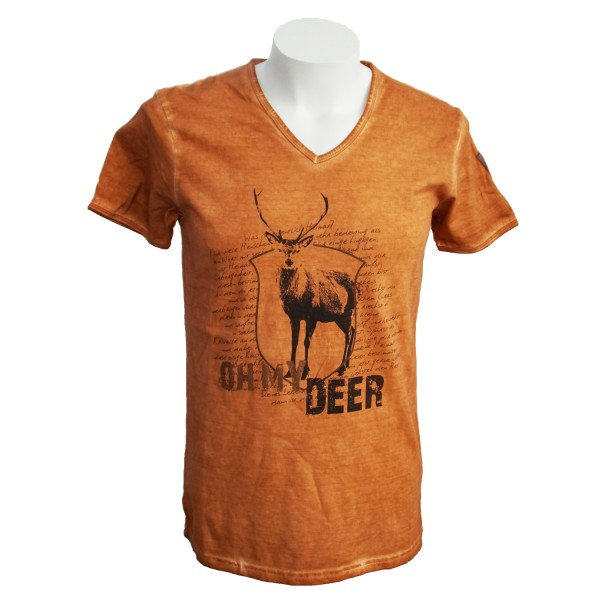 """Herren T-Shirt """"Deer"""" Vintage"""