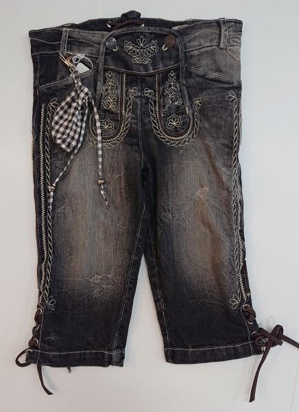 Kniebund Kinder Jeans anthrazit