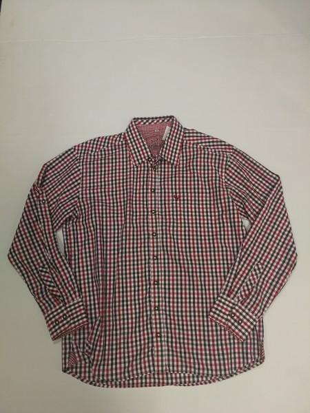 Herren Hemd burgund/rot