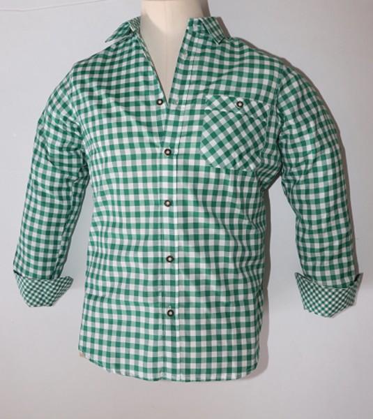 Herrenhemd grün/kariert