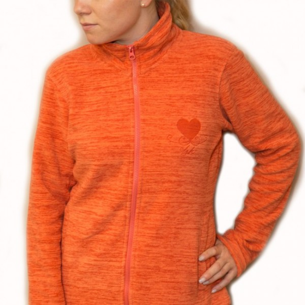 Damen Fleecejacke - orange