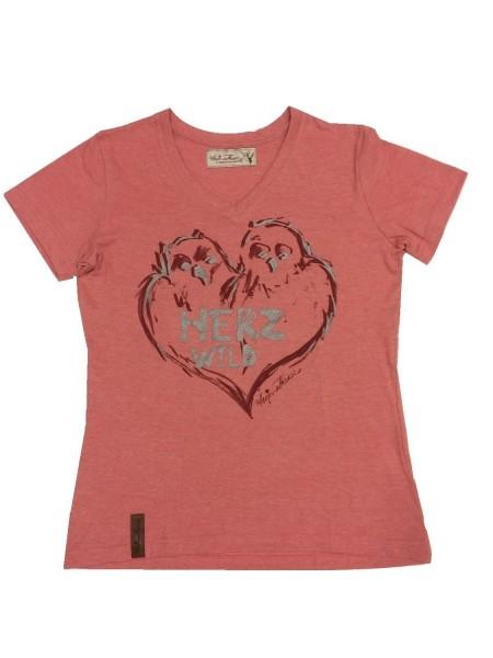 "Damen Shirt "" Herzwild "" rot"