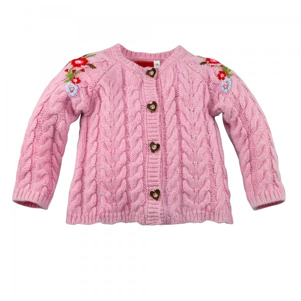 Baby Strickjacke rose