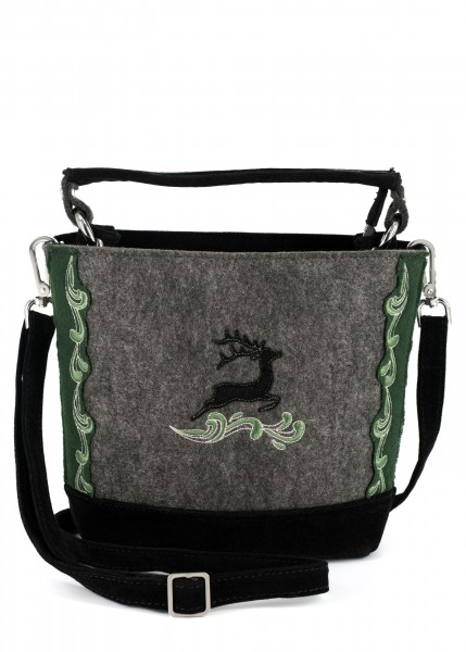 Tasche Filz Bruck grau/grün