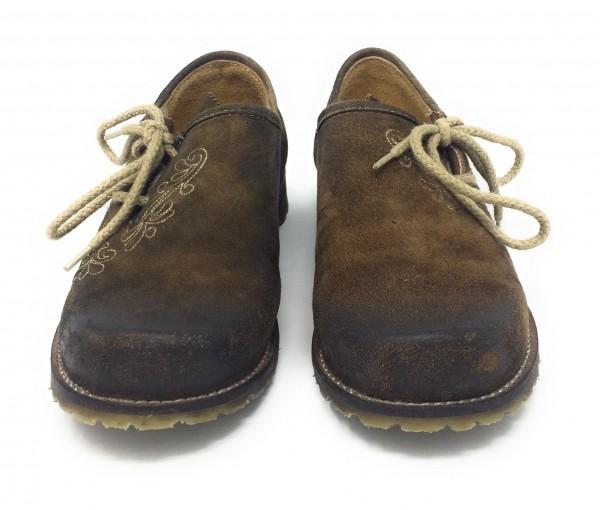 Herren Schuhe Hias mit Stickerei braun