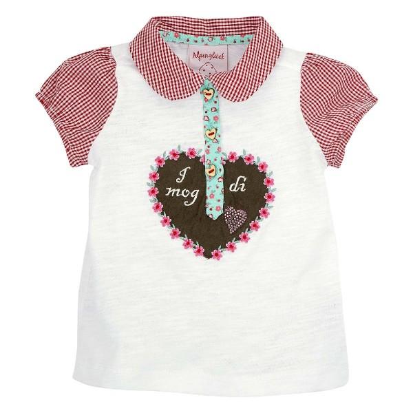 Baby Polo Shirt I mog di weiss/rot