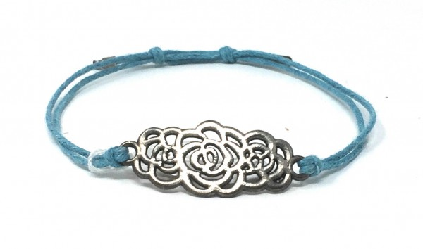 Feines Armband mit Blumenornament - handmade